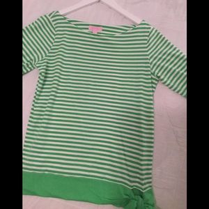 Lilly Pulitzer top size Med quarter sleeve
